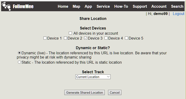 FollowMee GPS Tracker | How to embed my map on my web site?