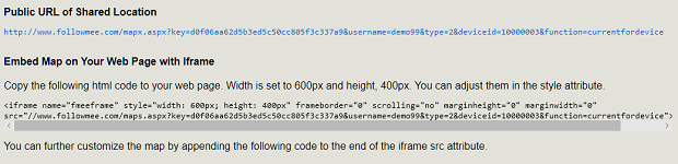 FollowMee GPS Tracker | How to embed my map on my web site? on xml code, time code, embed code, twitter code, em code, map code, json code, area code, silverlight code, style code, java code, mii code, jquery code,